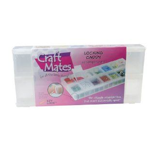 """Craft Mates Ezy Locking Caddy 14 Compartments Size 9"""" L X 4 1/8""""w X 1 1/8 H Model Number 90343   Beading Supplies"""