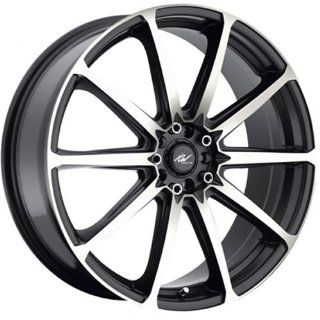 ICW Banshee 20 Machined Black Wheel / Rim 5x100 & 5x4.5 with a 45mm Offset and a 73 Hub Bore. Partnumber 215MB 2751845: Automotive