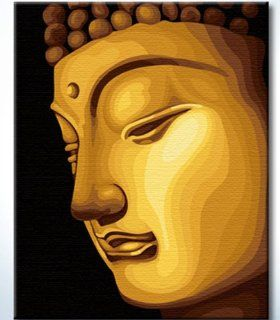 """DiyOilPaintings Paintworks Paint By Number 20""""x16"""", Golden Buddha: Arts, Crafts & Sewing"""