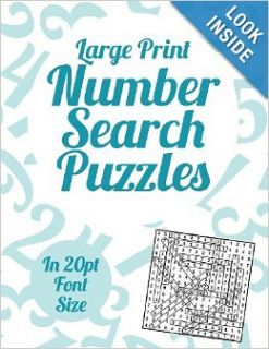Large Print Number Search Puzzles: A book of 100 Number Search puzzles in large 20pt print.: Clarity Media: 9781491012352: Books