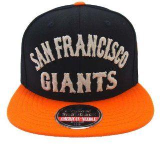 San Francisco Giants Retro Camber AN Black Orange Snapback Cap Hat