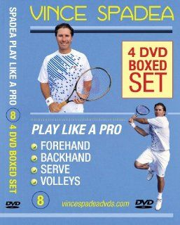 ATP Tennis Tour Pro Vince Spadea's, Play Tennis Like A Pro, 4 DVD Boxed SET! Vol. 1 Forehand, Vol. 2 Backhand, Vol.3 Serve, Vol 4. Volleys, Over 6 Hours of Professional Tennis Instruction Designed to Immediately Improve Your Singles & Doubles Play!