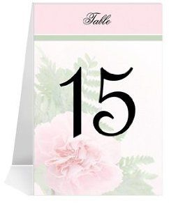 Wedding Table Number Cards   Pink Carnation Joy #1 Thru #32: Office Products