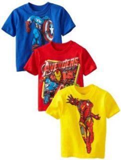 Marvel Boys 2 7 Avengers Three Pack Tee: Clothing