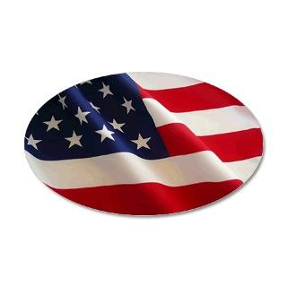 American Flag Oval Euro Sticker by Admin_CP1436