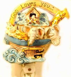 God Loves You Nightlight from Clayworks   Blue Sky by Heather Goldminc   Night Lights