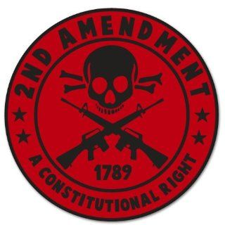 """Second Amendment Constitution RED Skull Car Sticker Decal Phone Small 3"""""""