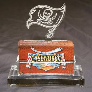 Tampa Bay Buccaneers NFL Logo Desktop Acrylic Business Card Holder