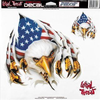 "Lethal Threat Designs Rip 'N Tear Eagle 12"" x 12"" Decals Motorcycle Graphic Kit Accessories   Multicolor / One Size: Automotive"