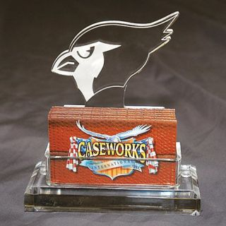 Arizona Cardinals NFL Logo Desktop Acrylic Business Card Holder
