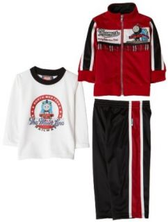 Nannette Thomas & Friends Baby Boys 3 Piece Active Set, Red/White, 12 Months: Clothing