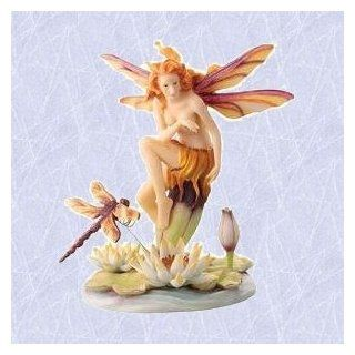 A fairy and her dragonfly statue home office sculpture : Everything Else