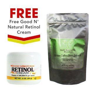 FREE Retinol Cream (Vitamin A)   2 Oz With 50 Grams Green Coffee Bean Extract Powder Health & Personal Care