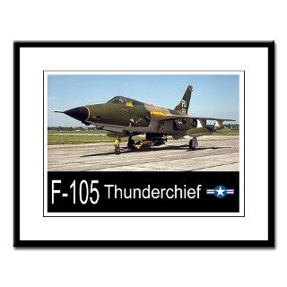 F 105 Thunderchief Fighter Bomber Large Framed Pri by zoomwear