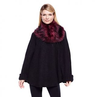 Cozy Chic by Jamie Gries Poncho with Removable Collar