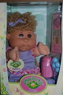 Cabbage Patch Kid Babies Blond Curly Hair Brown Eyes   Sylvia Kira born September 20th: Toys & Games