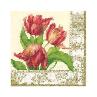 Ideal Home Range Cocktail Paper Napkin My Lady Tulips: Kitchen & Dining