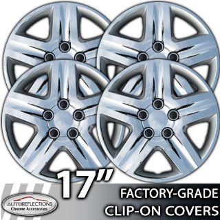"2010 2011 Toyota Camry 17"" Chrome Clip On Hubcaps: Automotive"