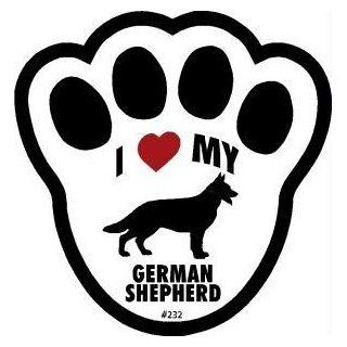 I Love My German Shepherd Pawprint Window Decal: Pet Supplies
