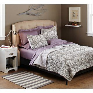 Pinzon 100 Percent Cotton Printed Full/Queen Quilt Set, Gray Gardenia   Bed Quilts