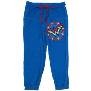 Wonder Woman Capri Lounge Pants for Juniors XXL/19: Clothing