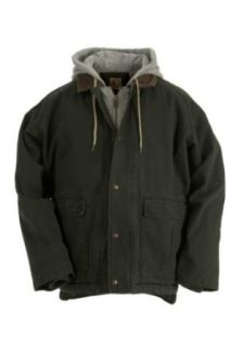 Berne Apparel Men's Sherpa Lined Jacket with Fleece Hood: Clothing