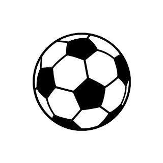 "Soccer Ball small 3"" Tall BLACK vinyl window decal sticker"": Automotive"