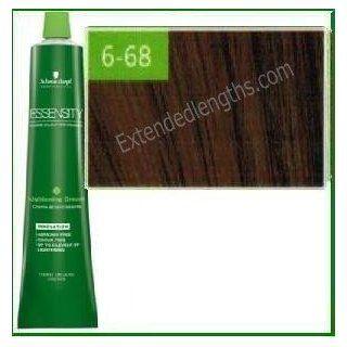 Schwarzkopf Essensity Permanent Hair Color   6 68 Dark Blonde Auburn Red : Chemical Hair Dyes : Beauty