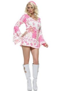 Sexy 70's Disco Halloween Costumes 70s Retro Costume Womens U.S. XS: Clothing