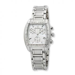 "Bulova ""Highbridge"" Ladies' Diamond Stainless Steel Chronograph Watch"