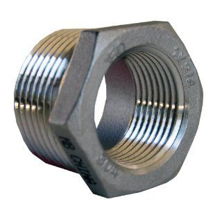 LASCO 32 2711 1 Inch Male Pipe Thread by 3/4 Inch Female Pipe thread Type 304 Stainless Steel Hex Bushing   Pipe Fittings