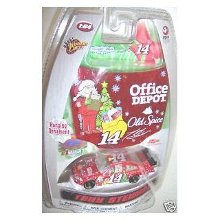 Tony Stewart #14 Sam Bass Office Depot Old Spice Holiday Christmas Edition 1/64 Scale Diecasts Car & Bonus Hanging Ornament 1/24 Scale Hood Winners Circle Toys & Games