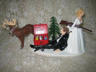 Humorous Redneck Wedding deer Hunter Hunting fishing Cake Topper : Wedding Ceremony Accessories : Everything Else