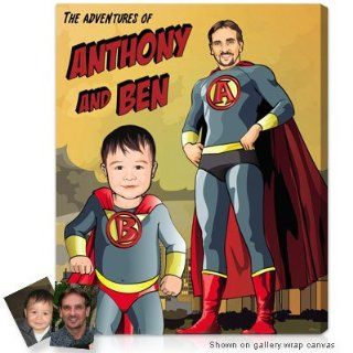 Personalized Gifts for Dads   Family Superhero pictures with your faces from your photo   Prints