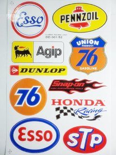 1x Sheet 76 STP PENNZOIL AGIP Snap on ISUZU TOYOTA KAWASAKI HONDA YAMAHA car bike motocross racing emblem logo sticker decal: Everything Else