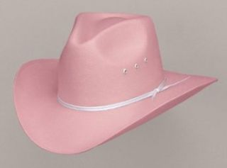 Pink Pinch Front Straw Cowboy/Cowgirl Hat, Large/XLarge: Clothing