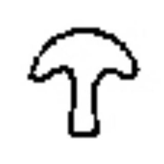 Contemporary Design Stamp, Mushroom   PUN 103.22 Arts, Crafts & Sewing