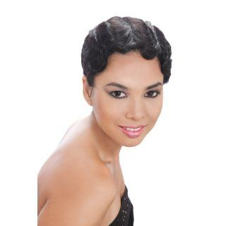 JANET COLLECTION Human Full Lace Wig MIMI   Color #1   Jet Black: Beauty