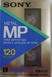 Sony 120 Metal MP 8mm Video Cassette Tape   Metal Particle Tape   106 meters NTSC   P6 120MP