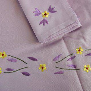 Temp tations 113 Old World 70 inch Round Tablecloth w/ 6 Napkins, Lilac