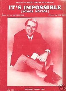 Sheet Music It's Impossible Perry Como 109: Everything Else