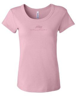 Callaway Cars 980.92.9356.M Pink Medium Embroidered Ladies' T Shirt Automotive