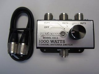 Workman CX 3 3 Position COAX Antenna SWITCH 1000 W   CB / Ham Radio w/ 3 Foot Jumper!: Electronics
