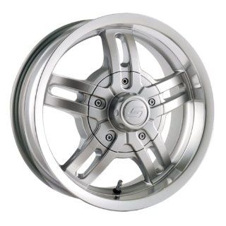 """Ion Alloy 12 Silver Wheel with Machined Lip (14x6""""/5x114.3mm): Automotive"""
