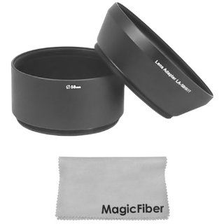 Lens Adapter Tube for SONY Cyber shot DSC HX1 Digital Camera + Premium MagicFiber Microfiber Cleaning Cloth  Camera Lens Caps  Camera & Photo