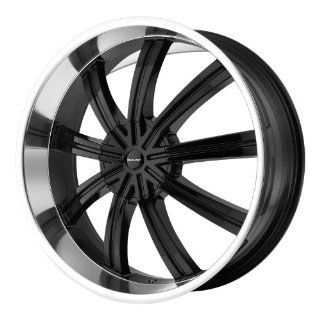 20x8.5 KMC Widow (Gloss Black Machined) Wheels/Rims 5x114.3/127 (KM67228554338): Automotive