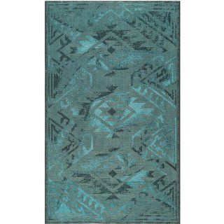 Safavieh PAL122 56C4 3 Palazzo Collection Area Rug, 3 Feet by 5 Feet, Black/Turquoise