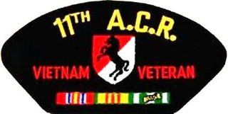 "11TH A.C.R. ARMORED CAVALRY REGIMENT VIETNAM VETERAN BLACK PATCH(Can be sewn or ironed on jacket or hat) Patch 3""x5"": Everything Else"
