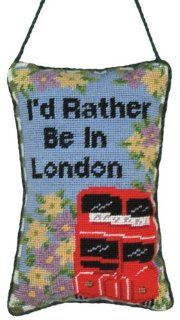 123 Creations C177H.5x8 inch In London Needlepoint Door Knob Hanger   100 Percent Wool