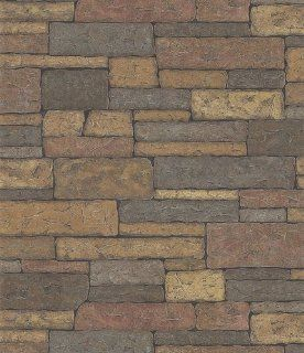 Brewster 145 41394 Northwoods Lodge Adobe Brown Bricks Wallpaper   Stone Wallpaper